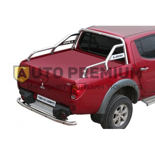 Дуга багажника с боковой поддержкой d63,5 Mitsubishi L200 (нержавейка)